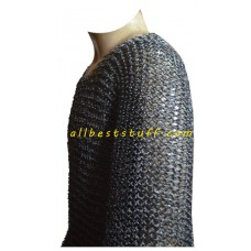 Carolingian Byrnie Extra Large Round Riveted Maille Hauberk Chest 55