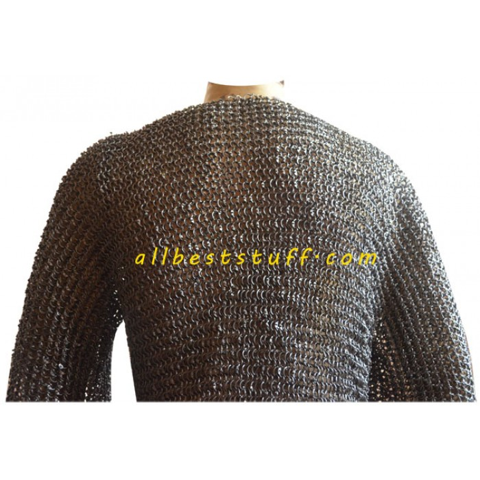 XL Chest Size 50 Chain Mail Armor Round Riveted, Ring Type-16G 9MM