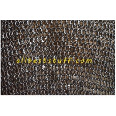 8 mm Round Riveted Maille Hauberk Chest 40 Long Length