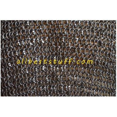 8 mm Dense Round Dome Riveted Chain Mail Hauberk Chest 40