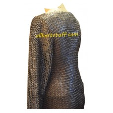 Medieval Viking Chain Mail Shirt Chest 46 Long Sleeve