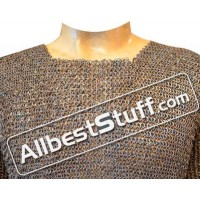 Medium Chest 33 Circumference Chain Mail Shirt Half Sleeve