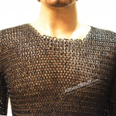 Steel Chain Mail Shirt Round Rivet Flat Solid Chest 50