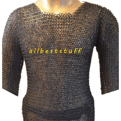 Larp Maille Armour Round Riveted Chest 58