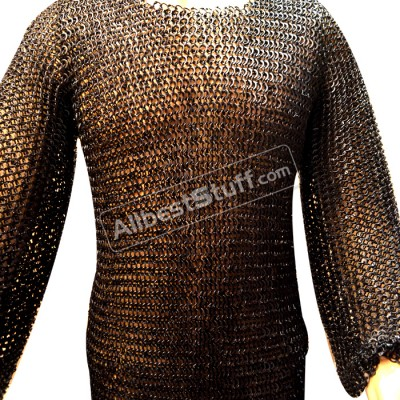 Steel Chain Mail Armour Round Rivet Flat Solid Chest 40 Long