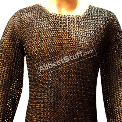 Strong Round Rivet with Flat Washer Chain Mail Shirt Chest 38