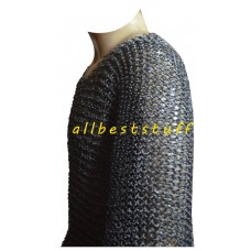 Large Round Riveted 8 mm Maille Shirt in 17 Gauge Ring Chest 44