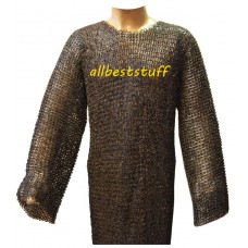 Medium Size Stainless Steel Hauberk Chest 42 Long Full Sleeve