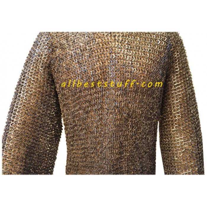 Long Length Flat Riveted Maille in Stainless Steel Chest 50