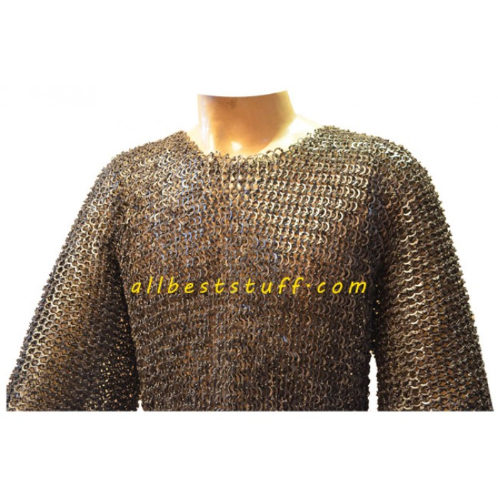 Rust Proof Maille Armour Flat Riveted XXL Chest Size 56