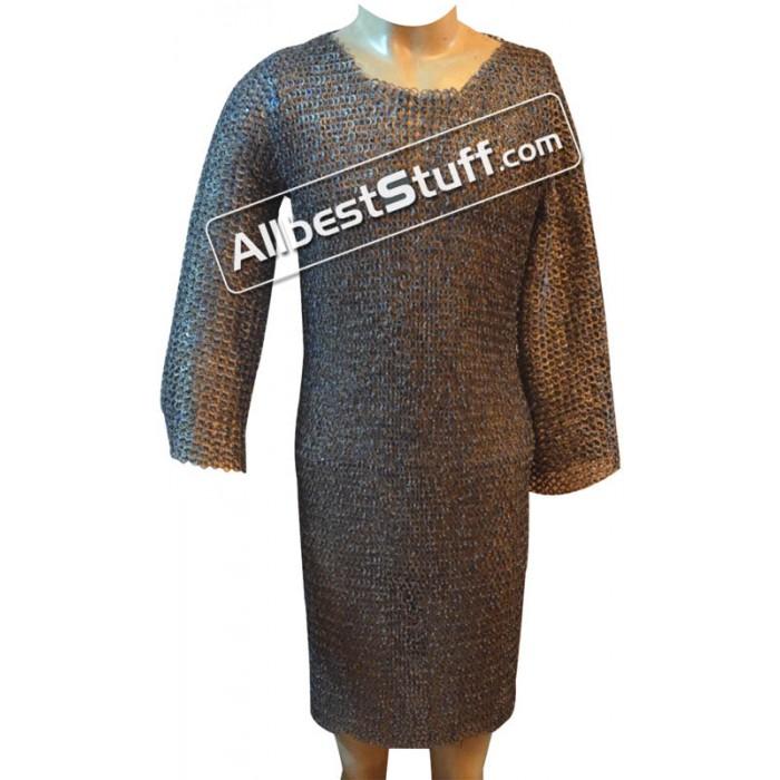 40 Chest Long Titanium Maill Shirt Full Sleeves