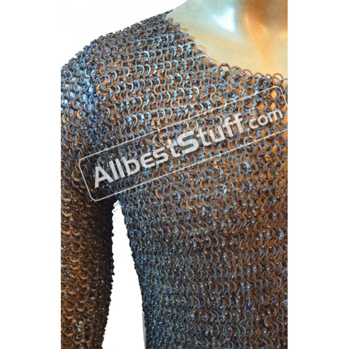40 Chest Long Titanium Maill Shirt Full Sleeves