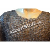 Titanium Chain Mail Shirt Flat Riveted Chain Mail Haubergeon