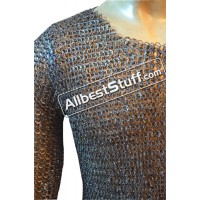 Half Sleeve Titanium Maill Hauberk Chest 40 inches