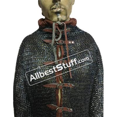 Titanium Chain Mail High Neck Collar Shirt Chest 54