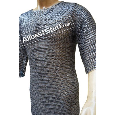 Chain Mail 8 MM Wedge Riveted Alternating Solid Chest 44