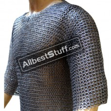 Hand Made Wedge Riveted Chain Mail Flat Solid Chest 48