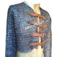 Aluminum Flat Riveted Half Maille Shirt