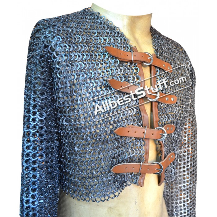Rust Proof Half Maille Shirt with Fasteners Full Sleeve with Armpit Gusset Chest 36