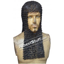 16 G Round Riveted Medieval Maille Hood