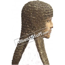 16 Gauge Round Riveted Solid Brass Maille Coif