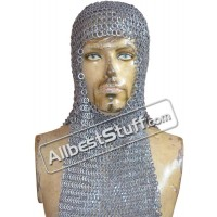 8 mm Flat Riveted Solid Maille Hood