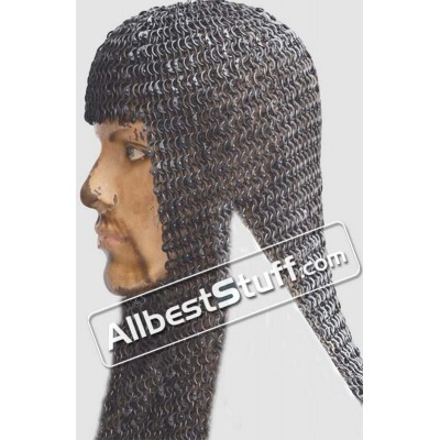 Round Riveted Flat Solid Coif 8 MM