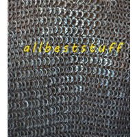 Aluminium Flat Dome Riveted Chain Mail Coif Rectangle