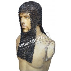 Rectangle Bottom 8 MM Round Riveted Maille Coif