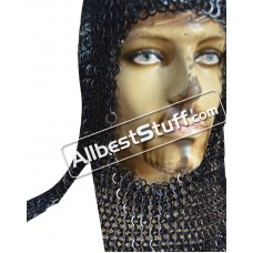 Rectangle Maille Hood Flat Wedge Riveted Alternate Solid Coif