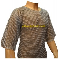 16 Gauge Butted Chain Mail Medium Long Length Sleeve Chest 38