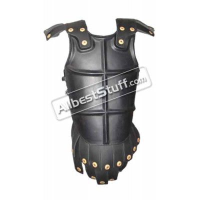 Black Leather Breastplate Armour with Belt