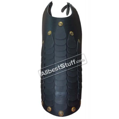 Leather Muscle Breastplate Black Greek Armour Leather Armour