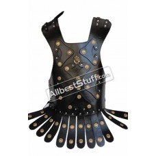 Medieval Greek Roman Leather Muscle Body Armor Suit with Torjan Belt Breastplate