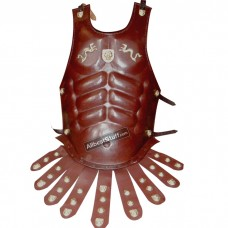 Brown Leather SCA Body Armour with Belt for SCA Medieval Fairs