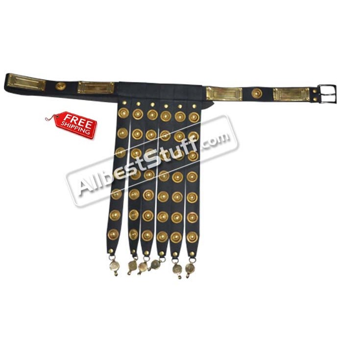 Roman Legionary Light Belt Rome Legion Leather Belt Armor with Brass