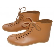 Medieval Leather Shoe Front Punched Tan Color
