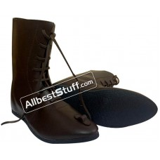 Medieval Ankle Rubber Sole Shoes Hand Made Long Boots