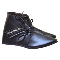 SALE! Medieval Ankle Shoes Hand Made Black