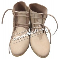 SALE! Medieval Ankle Shoes Hand Made Rough Leather