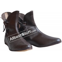 Medieval Gothic Boots Handmade Leather Shoes