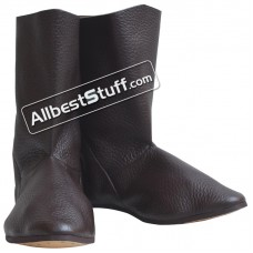 Medieval High Quality Long Leather Boots