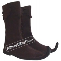 Medieval Leather Pirate Boots Grayish Brown