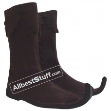 SALE! Medieval Leather Pirate Boots Grayish Brown