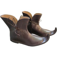 Medieval Leather Pirate Shoes Brown
