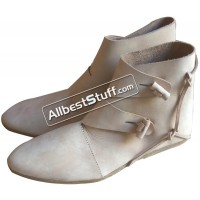Medieval Leather Shoes Handmade Jorvik Style