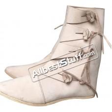 4e7ad3e2e123 Medieval Leather Shoes Handmade Viking boots Jorvik Style