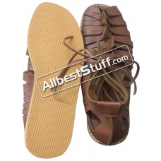 Medieval Rubber Sole Roman Leather Caligae Sandals