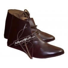 Medieval Ankle Shoes Hand Made Brown or Black