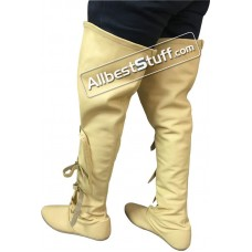 Medieval Knee Boots Soft Leather Shoes Long Boots SCA Renaissance